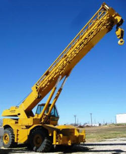 1982 Lorain LRT 400 40 Ton 4 x 4 Cherry Picker Rough Terrain Crane with Block and Ball