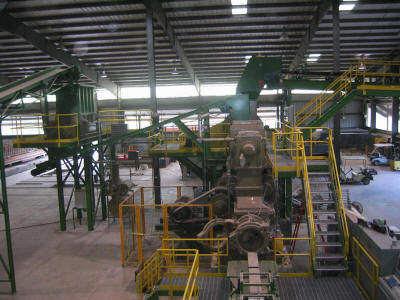 Clay brick extrusion line and related conveyors, platforms, walkways, equipment and structures.