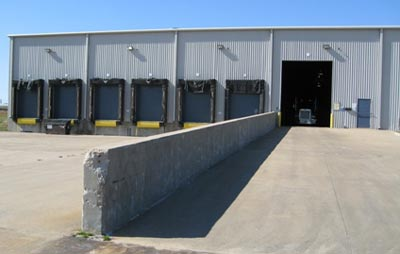 Loading dock area and truck bay